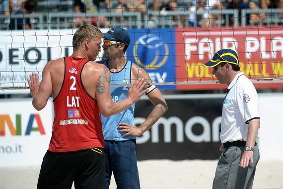 EUROPEAN BEACH VOLLEYBALL CHAMPIONSHIP  FINAL v Cagliariju, Anton Pevc