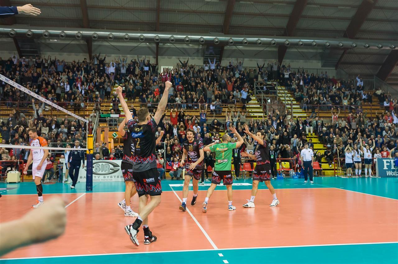 Perugia: Slavje domačih je v živo doživel CEV supervisor Anton končnik. foto: CEV
