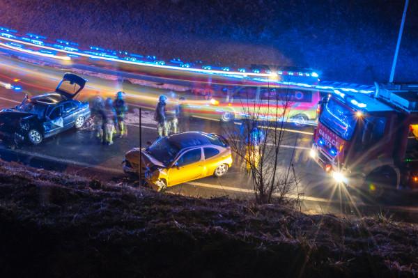 Prometna nesreča pri Lescah. Vir: www.24ur.com