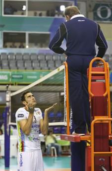 Utrinek s prve tekme. vir: www.fivb.org