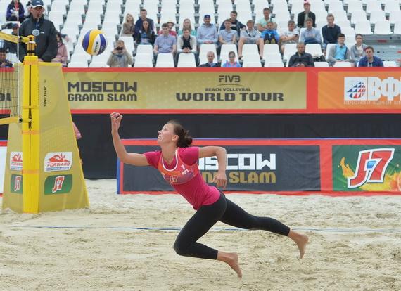 FIVB BEACH VOLLEYBALL WORLD TOUR GRAND SLAM v Moskvi. Anton Pevc v vlogi 1. sodnika