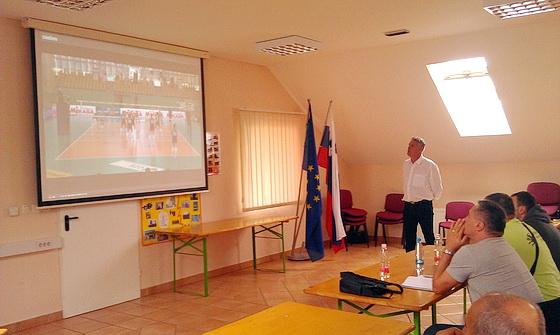 Pregled enega izmed posnetkov (Branko Hrga, delegat-kontrolor)