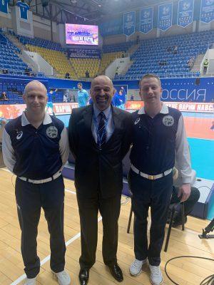 1. sodnik Markelj Blaž (SLO), delegat CEV Zoran Ješić (SRB), 2. sodnik Muha Bruno (HRV)