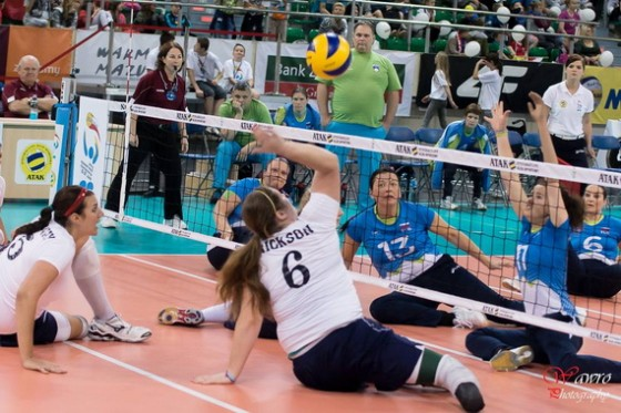 SLO : ZDA (foto: Facebook 2014 World ParaVolley Sitting Volleyball World Championships)