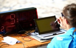 electronic score sheet beach FIVB foto