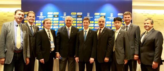 Sodniki finala Svetovne lige 2015 v Braziliji (foto: fivb.com)
