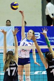 Slovenija : Grčija (foto facebook.com/pages/Slovenia-Volleyball-Team)